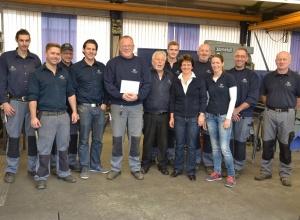 Über sein 35-jähriges Betriebsjubiläum freut sich mit Markus Hollard das gesamte Team der Firma Happ.